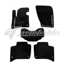 Ворсовые коврики в салон для Porsche Cayenne 2010-2018 черные Vena (велюр), Украина