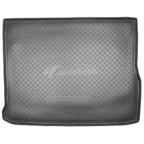 на фотографии резино-пластиковый коврик в багажник на Renault Scenic 2009-2016 года третьего поколения от Norplast