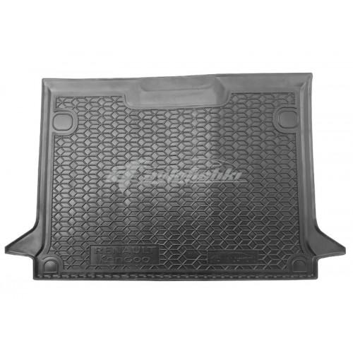 на фотографии резиновый коврик в багажник для Renault Kangoo короткая база с 2010 года черного цвета от Avto-Gumm
