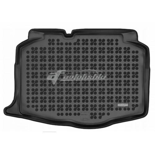 на фотографии коврик в багажник резиновый для Seat Ibiza V с 2017 года черного цвета от Rezaw-Plast