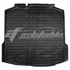 Резиновый коврик в багажник для Skoda Rapid Liftback (лифтбэк) 2013-... Avto-Gumm