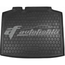 Резиновый коврик в багажник для Skoda Rapid Spaceback (спейсбэк) 2013-... Avto-Gumm