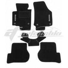 Коврики ворсовые в салон для Skoda Octavia A5 2005-2013 черные, Украина