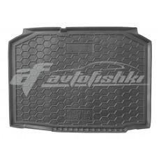 Резиновый коврик в багажник для Skoda Fabia II Hatchback (хэтчбек) 2007-2014 Avto-Gumm