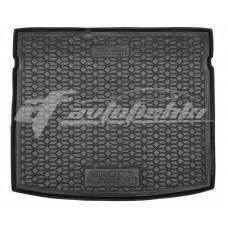 Резиновый коврик в багажник для Skoda Karoq (полноразмерный) (без ушей) 2018-... Avto-Gumm