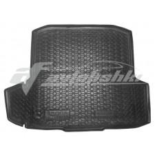 Резиновый коврик в багажник для Skoda Octavia A7 Kombi (универсал) (с ушами) 2013-2020 Avto-Gumm