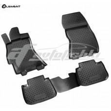 Резиновые коврики в салон на Subaru Legacy V 2009-2014 Novline (Element)