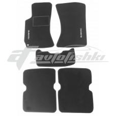 Коврики ворсовые в салон для Subaru Forester II 2002-2008 черные, Украина