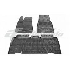 Резиновые коврики в салон для Tesla Model X 2016-... Avto-Gumm