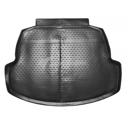на фотографии резиновый коврик в багажник для Toyota Corolla с 2019 года черного цвета от Novline