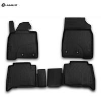 Гумові килимки в салон на Toyota Land Cruiser 200 2012-2020 Novline (Element)