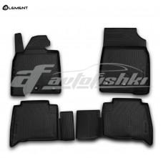 Резиновые коврики в салон на Toyota Land Cruiser 200 2012-2020 Novline (Element)