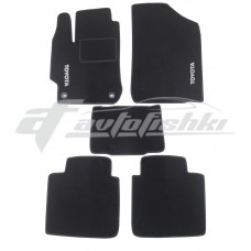 Коврики ворсовые в салон для Toyota Camry V50 / V55 2011-2018 черные, Украина