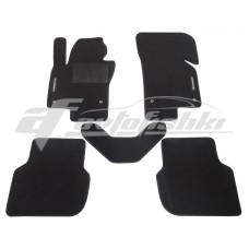 Коврики текстильные в салон для Volkswagen Jetta VI 2010-2018 черные, Польша