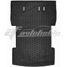 Резиновый коврик в багажник для Volkswagen Caddy III Maxi (7 мест) 2010-2021 Avto-Gumm
