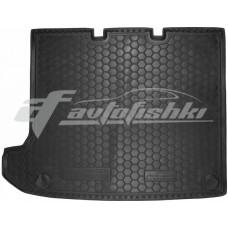 Резиновый коврик в багажник для Volksawgen Transporter T5 Caravelle (длинный) (без печки) 2010-2015 Avto-Gumm