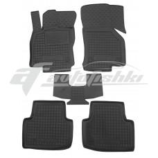 Резиновые коврики в салон для Volkswagen Passat B8 2015-... Avto-Gumm