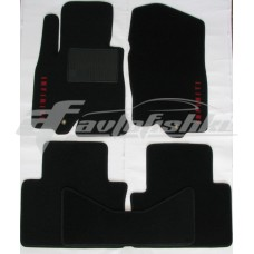 Коврики текстильные в салон для Infiniti FX35 / FX37 / FX50 / FX30d 2008-2013 черные, Польша