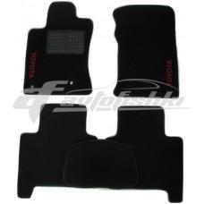 Коврики ворсовые на Toyota Land Cruiser Prado 120 `03- Черные