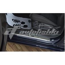 Накладки на пороги для VW Passat B8 4D/5D 2014-…