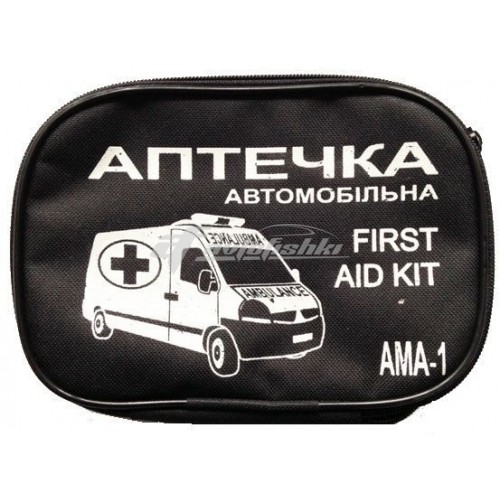Аптечка автомобильная АМА-1 (ЕВРО-1) (в мягком футляре) Украина