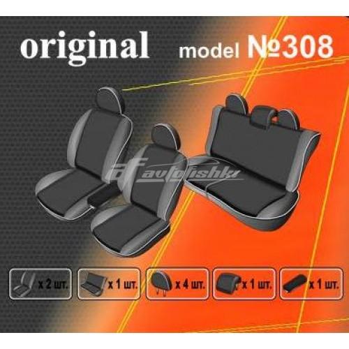 Чехлы на сиденья для Volkswagen Amarok 2010-... EMC Elegant