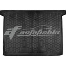 Резиновый коврик в багажник для Fiat Doblo (5 мест) 2010-... Avto-Gumm