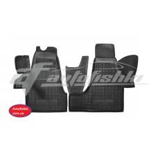 Резиновые коврики в салон для Volkswagen Transporter T5 Caravelle (передние) (1+2) 2003-... Avto-Gumm