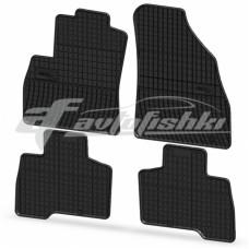 Коврики резиновые на FIAT Fiorino 5os. 2008- черные 4 шт.