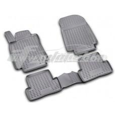 Резиновые коврики в салон на Renault Clio III 2005-2012 Novline (Element)