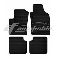 Коврики резиновые на FIAT Panda 2012- черные 4 шт.