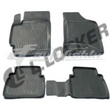 Коврики резиновые на Volkswagen Caddy (передние) 2010-... Lada Locker