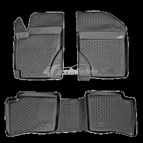 на фотографии полиуретановые коврики в салон для Geely MK MK2 2006-2020 года от Lada Locker