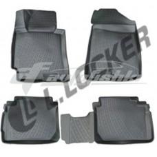 Резиновые 3D коврики на Kia Cerato III 2013-2018 Lada Locker