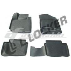Резиновые 3D коврики на Kia Picanto II 2011-2017 Lada Locker