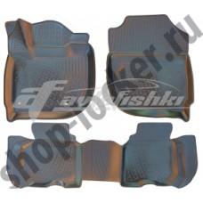 Резиновые 3D коврики на Honda Jazz IV 2013-2020 Lada Locker