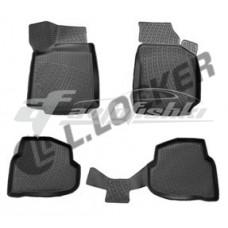 Резиновые 3D коврики на Volkswagen Polo Sedan (седан) 2010-2020 Lada Locker