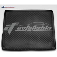Резиновый коврик в багажник на Volkswagen Touareg II 2010-2018 (2-х зонный климат-контроль) Novline (Element)