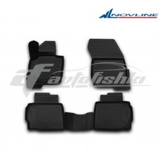 Резиновые коврики 3D в салон на Ford Fusion USA 2012-... Novline (Element)