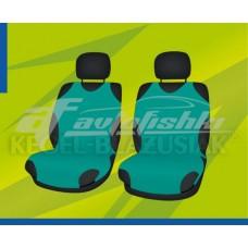 Универсальные чехлы (майки) на передние сиденья, зеленые