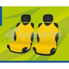 Универсальные чехлы (майки) на передние сиденья, желтые