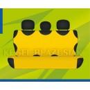 Универсальные чехлы (майки) на задние сиденья, желтые