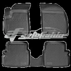 Коврики резиновые на Chevrolet Epica (06-) тэп серые к-т