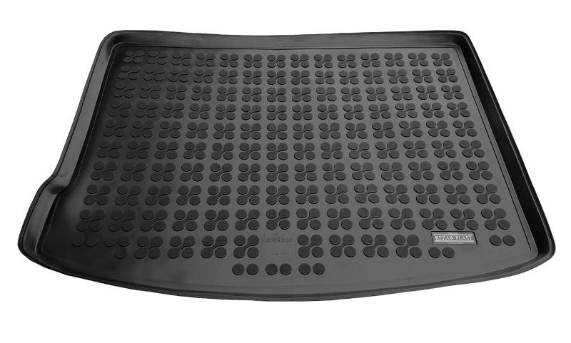 На фотографии резиновый мягкий коврик в багажник для Mini Countryman 2 поколения черного цвета от rezaw-plast