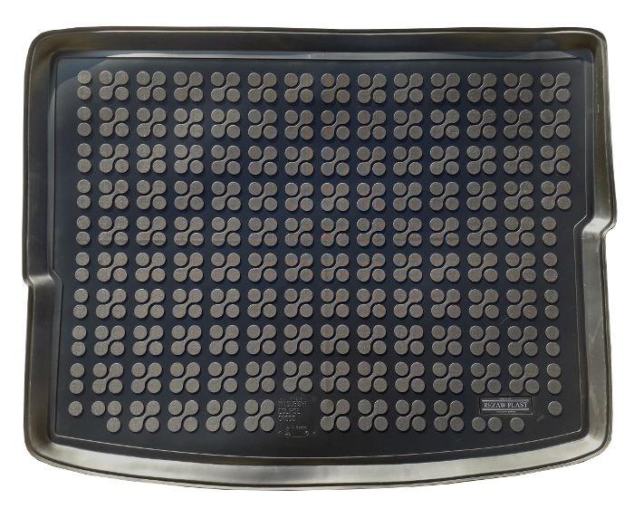 На фотографии коврик в багажник резиновый Mitsubishi Eclipse Cross черного цвета от Rezaw-Plast