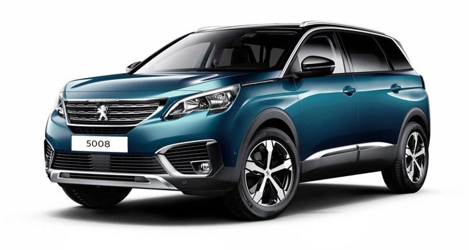 синей кроссовер Peugeot 5008 2017, 2018, 2019, 2020